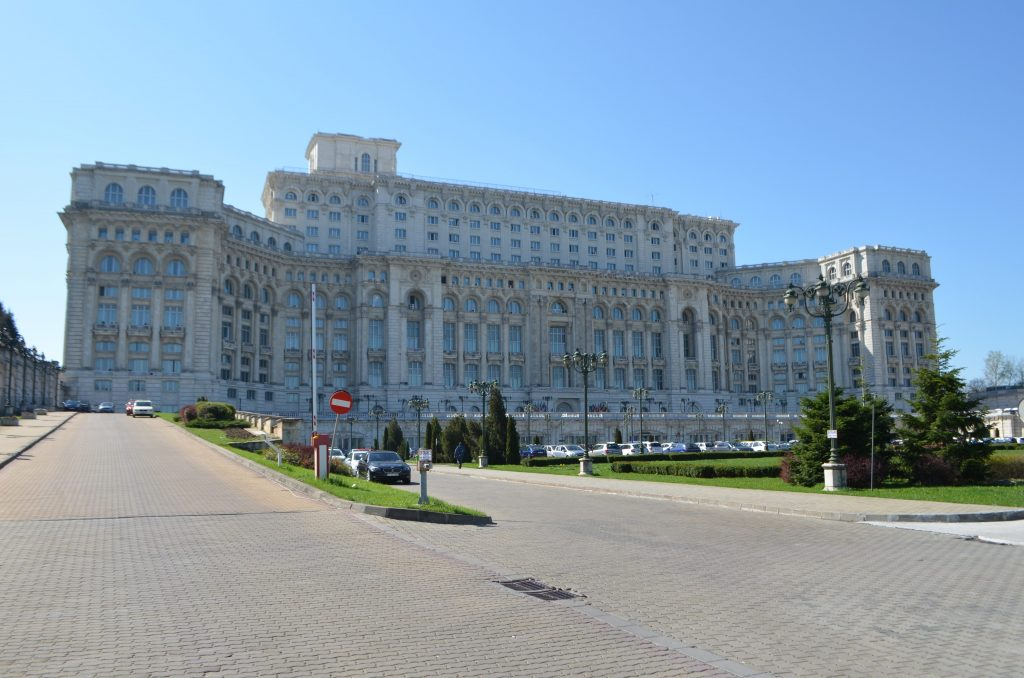 Palazzo del Parlamento di Bucarest ingresso