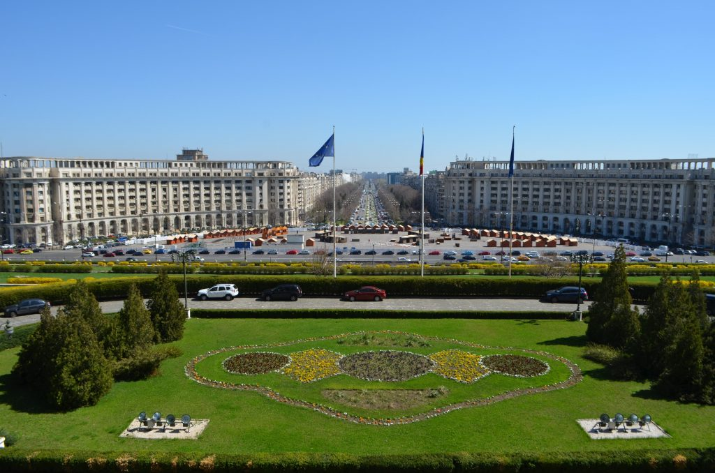 Palazzo del Parlamento di Bucarest terrazza panoramica