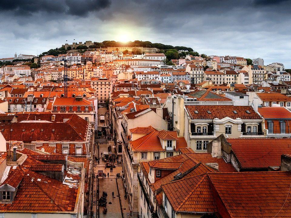 TRamonto a Lisbona. Foto di cristinamacia