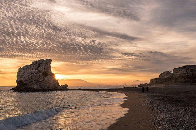 Playa Peñón del Cuervo, Málaga.