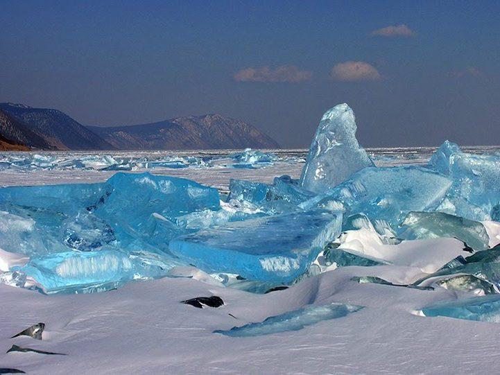 Lago Baikal in inverno