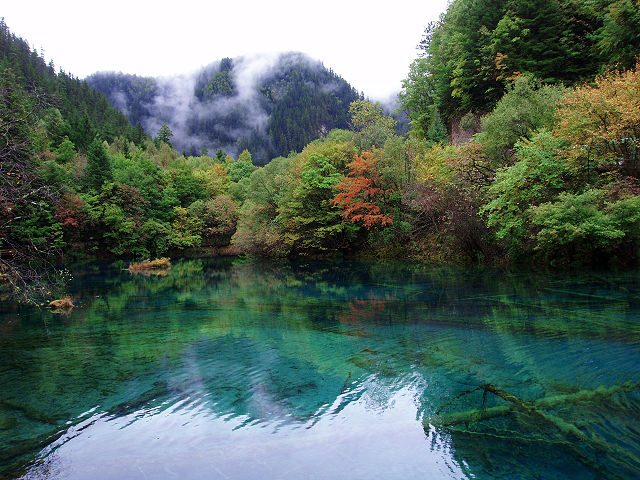Valle del Jiuzhaigou – Foto Wikipedia