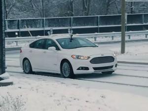 Ford, ecco i test a guida autonoma in condizioni invernali
