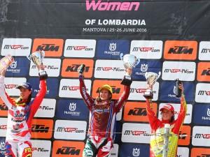 Il podio del GP di Lombardia