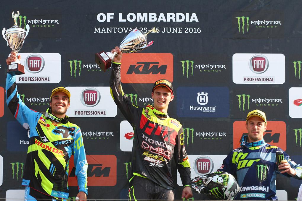 Gajser, Paulin e Desalle sul podio del GP di Lombardia – foto Fabrizio Carrubba
