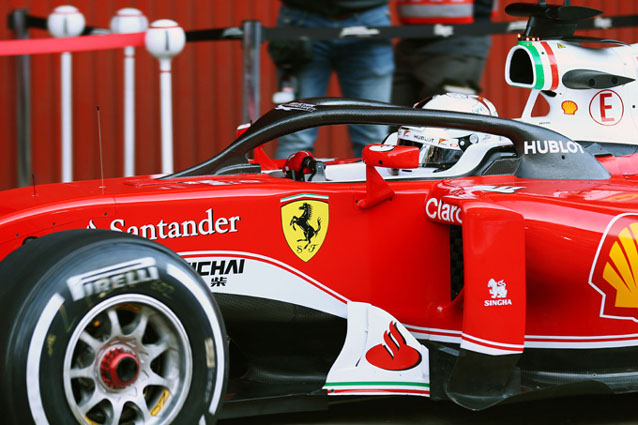 Ferrari con il sistema Halo. @Getty