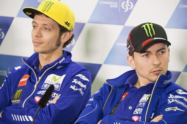 I due piloti del team Yamaha Movistar, Valentino Rossi e Jorge Lorenzo / Getty