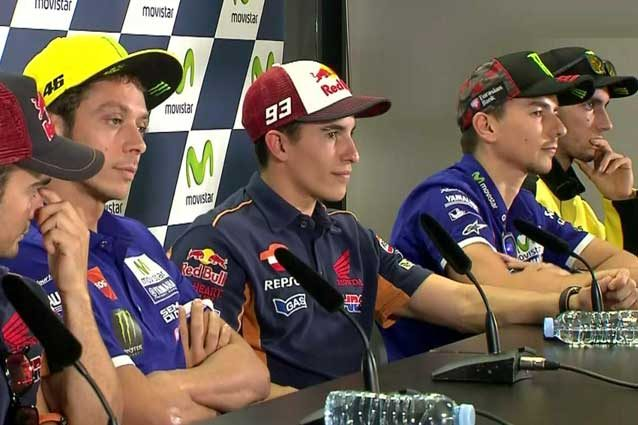 I piloti in conferenza stampa ad Aragon / MotoGp
