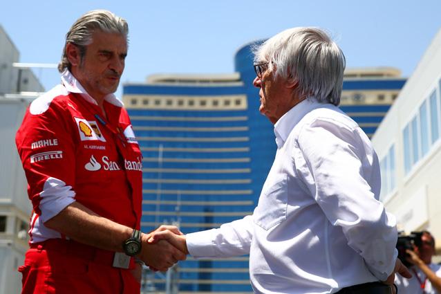 """F1, Ecclestone: """"Arrivabene ha le sue idee ma è bloccato da chi gli sta sopra"""""""