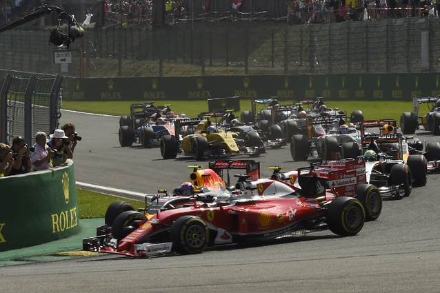Verstappen e il contatto con le Ferrari a Spa – Getty Images