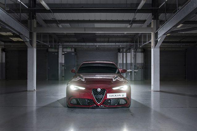 Alfa Romeo Giulia Quadrifoglio record alla cieca