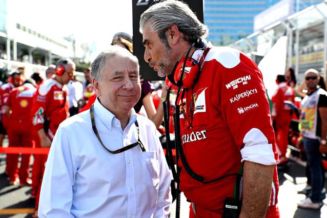 Il team principal Maurizio Arrivabene e il presidente della Fia Jean Todt – Getty Images
