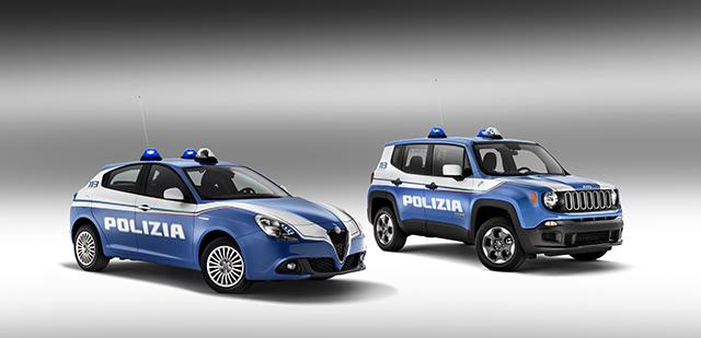 Alfa Romeo Giulietta Jeep Renegade Polizia di Stato