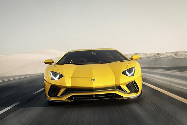 Frontale Lamborghini Aventador S