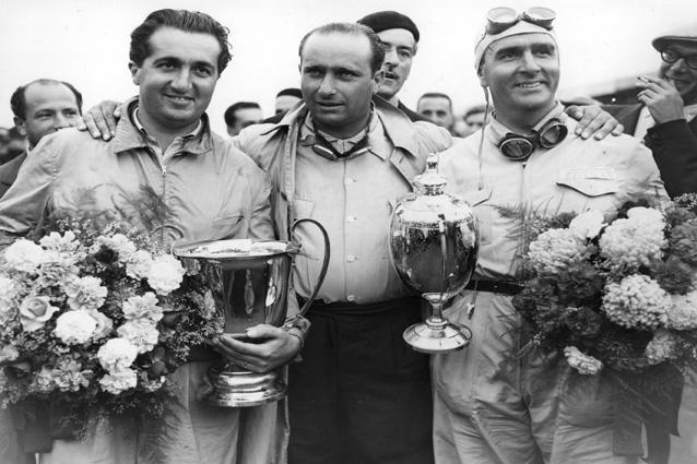 Juan Manuel Fangio e Alberto Ascari - Getty Images