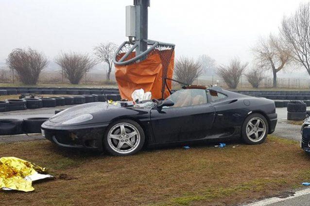 Incidente Ferrari Corso Guida Sicura