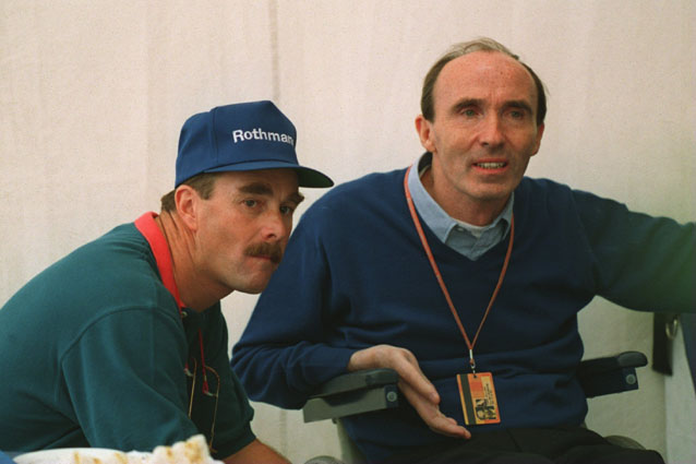 Nigel Mansell insieme a Frank Williams – ALLSPORT
