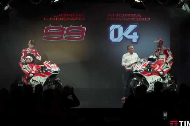 MotoGp, presentazione Ducati: ecco le moto di Lorenzo e Dovizioso