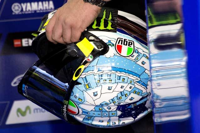 """Il nuovo casco """"winter test"""" di Valentino Rossi per i test di Sepang / GettyImages"""