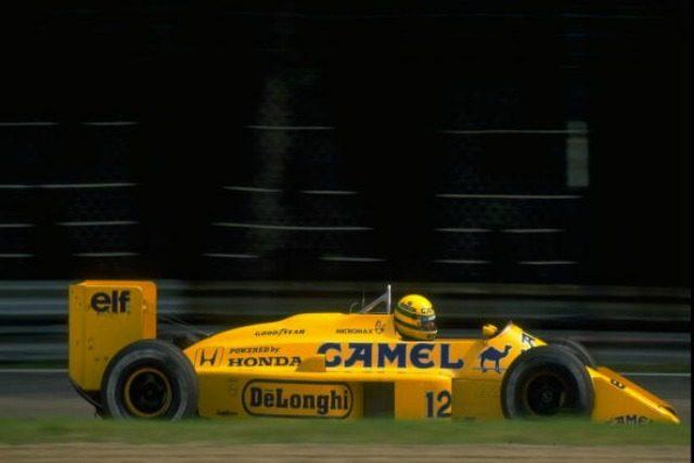 Lotus Camel Senna