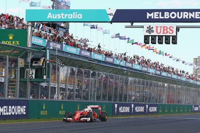 Il traguardo della pista di Melbourne – Getty Images