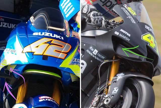 Nuove carene su Suzuki e Aprilia