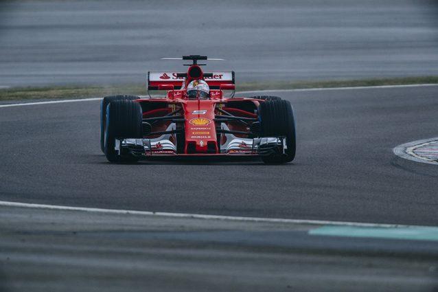 Sebastian Vettel con la nuova SF70H