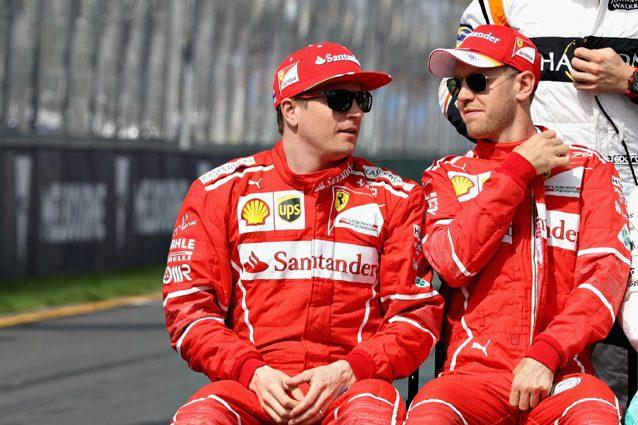 Sebastian Vettel e Kimi Raikkonen – Getty Images