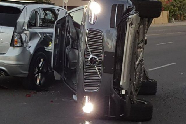 Uber Volvo XC90 incidente a Tempe