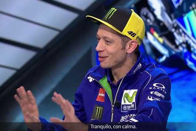 Valentino Rossi durante l'intervista / Movistar Tv