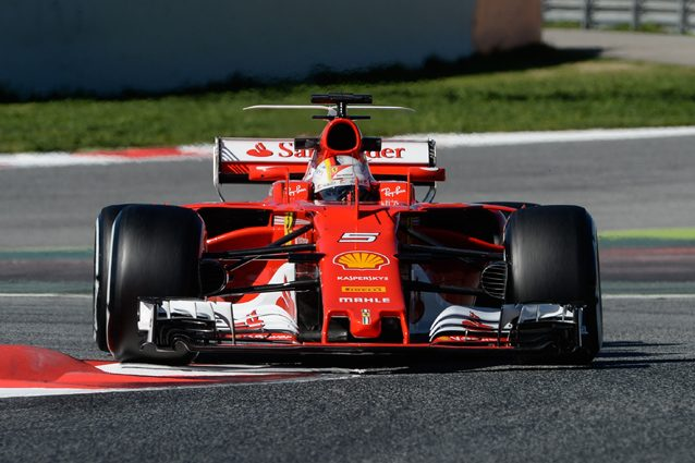 Sebastian Vettel con la SF70H – Getty Images