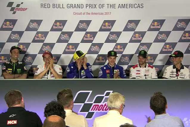 I piloti in conferenza stampa / MotoGp.com