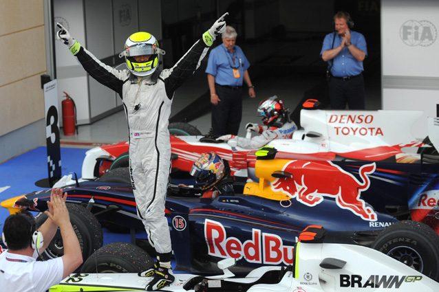 Jenson Button dopo la vittoria nel 2009 – Getty Images