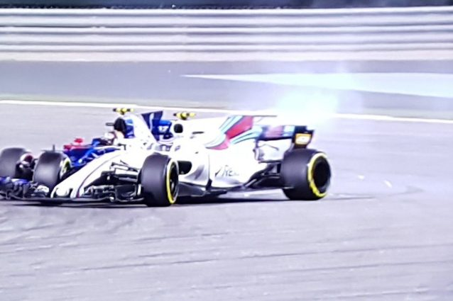 Incidente tra Stroll e Sainz