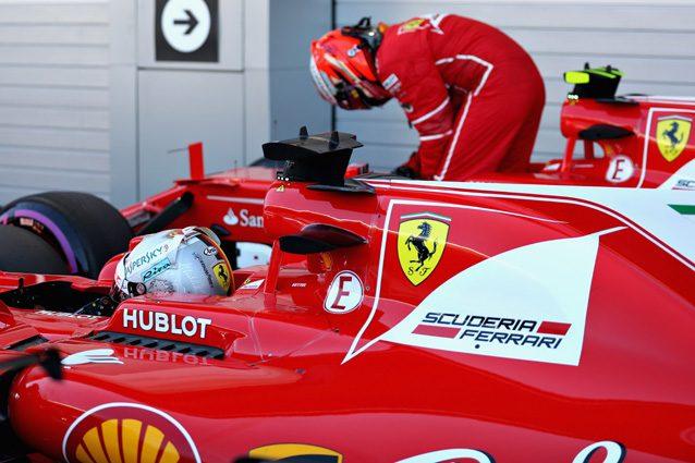 Le due Ferrari che partiranno in prima fila a Sochi – Getty Images