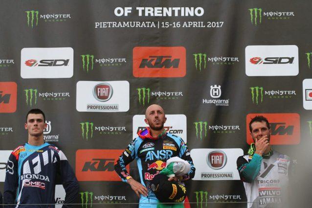 Il podio del GP del Trentino – foto Carrubba