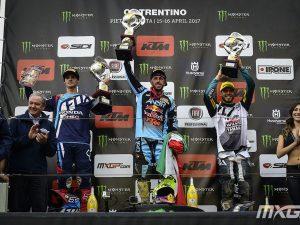 Cairoli sul gradino più alto del podio in Trentino – credito fotografico Youthstream