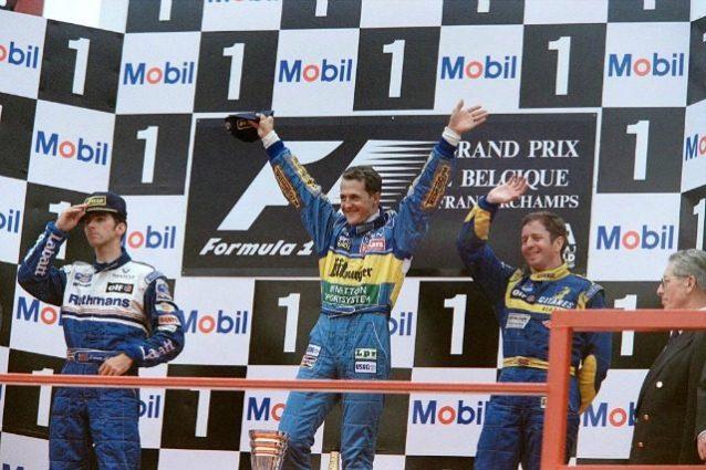 Podio GP Belgio 1995