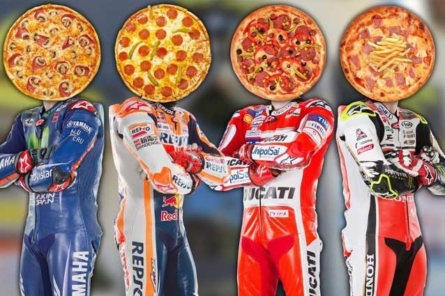 I rivali di Valentino Rossi nel mondiale versione pizza / MotoGP.com