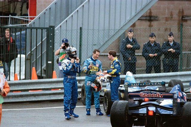 Schumi e Hill Spa 1995