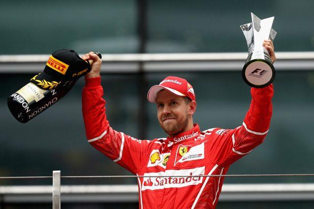 Sebastian Vettel sul podio del Gran Premio di Cina – Getty Images