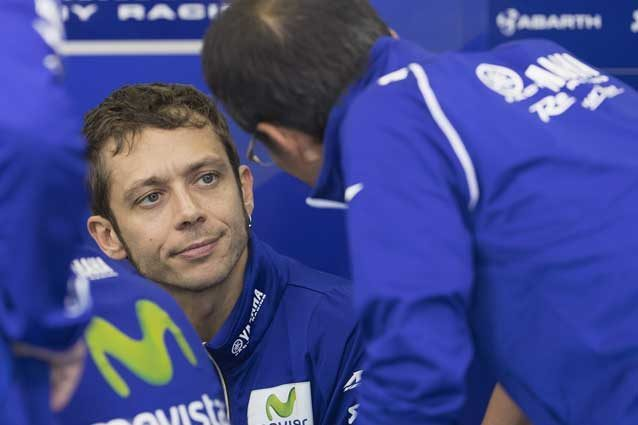 Valentino Rossi al box Yamaha / GettyImages