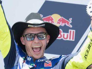 Valentino Rossi sul podio di Austin / GettyImages