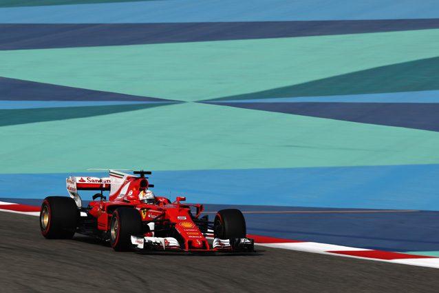 Sebastian Vettel sulla pista del Bahrain – Getty Images