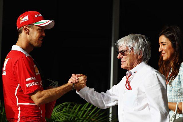 Bernie Ecclestone e Sebastian Vettel – Getty Images