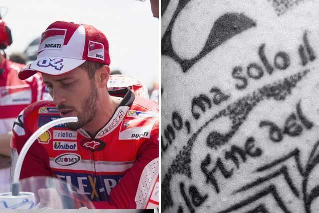 Andrea Dovizioso e quel tattoo fatto dopo la morte di Simoncelli / Instagram