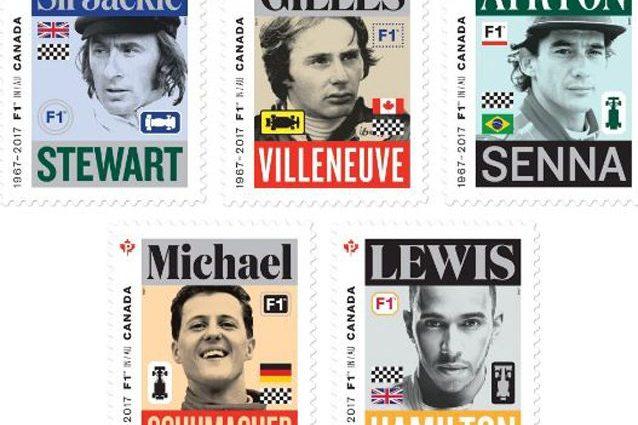 I francobolli dedicati ai grandi della F1 – Foto Twitter