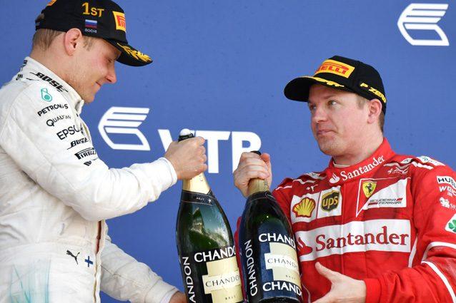 Kimi Raikkonen e Valtteri Bottas – Getty Images