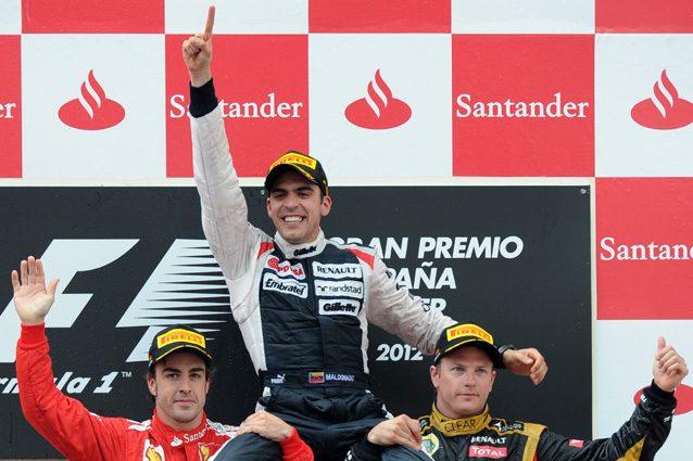 Pastor Maldonado vince il GP di Spagna nel 2012 – Getty Images