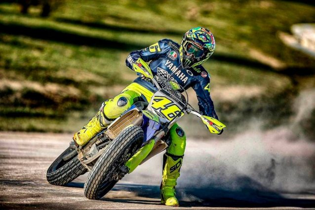 Incidente in motocross per V.Rossi